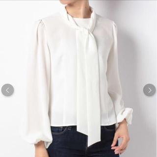 アンドクチュール(And Couture)のアンドクチュール・新品・ホワイトブラウス(シャツ/ブラウス(長袖/七分))