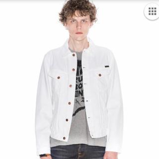 ヌーディジーンズ(Nudie Jeans)のNudie Jeans ヌーディージーンズ デニムジャケット Gジャン ホワイト(Gジャン/デニムジャケット)