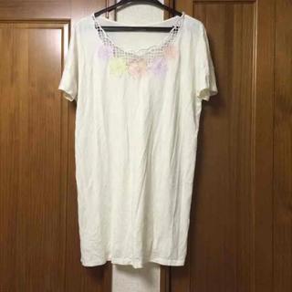 ドットアンドストライプスチャイルドウーマン(Dot&Stripes CHILDWOMAN)の花刺繍ワンピース ドットアンドストライプス(ミニワンピース)