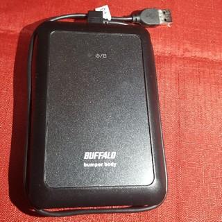 バッファロー(Buffalo)のBUFFALO ポータブルハードディスク 320GB 使用少ない(PC周辺機器)