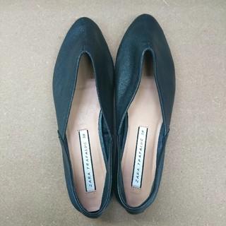 ザラ(ZARA)のZARA レザーバブーシュ(ローファー/革靴)