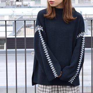 ダブルクローゼット(w closet)のw closet♡ カギ針編みボトルネックプルオーバー(ニット/セーター)