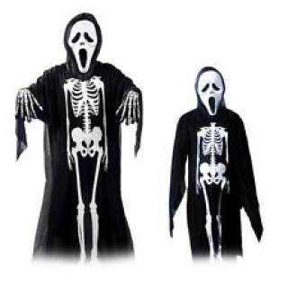 ハロウィン 大人用 スクリーム 死神 セット(ホラーマスク 衣装 手袋)(衣装一式)