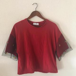 チャオパニック(Ciaopanic)のCiaopanic チュール付Tシャツ(Tシャツ(半袖/袖なし))
