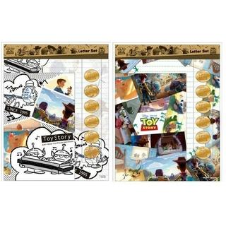 トイストーリー(トイ・ストーリー)のトイストーリ レターセット 20thデザイン 2種類(キャラクターグッズ)
