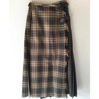 カネコイサオ(KANEKO ISAO)のカネコイサオ 巻きスカートチェック(ロングスカート)