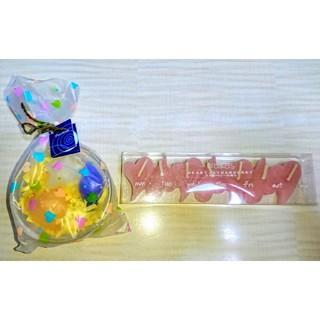 新品★お風呂に浮かべる フローティング アロマキャンドル セット ストロベリー(キャンドル)