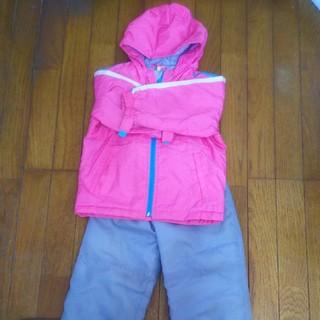 スキーウェア女の子上下セット子供100キッズ 雪遊びスキーに☆スノー手袋付き◎(ウエア)