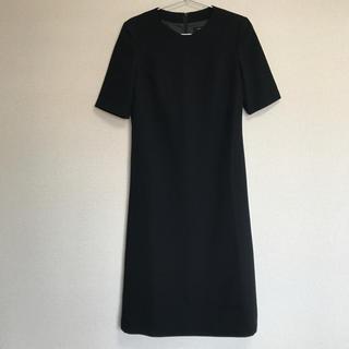ソワール(SOIR)の【未使用再値下】ブラックフォーマルワンピース(礼服/喪服)