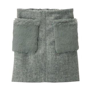 ジーユー(GU)のgu ファーポケットスカート 140(スカート)