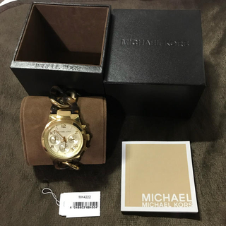 5ba43782235f マイケルコース(Michael Kors)のマイケルコース MICHEAL KORS MK4222 べっ甲 腕時計 ゴールド(