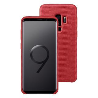 サムスン(SAMSUNG)のGalaxy S9+ SAMSUNG純正ケース ハイパーニットカバー 赤(Androidケース)