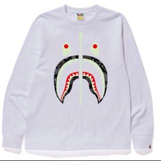 A BATHING APE - 正規品 bape space camo shark l/s tee XL ape