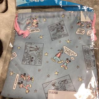 シマムラ(しまむら)のディズニー 巾着 ミッキー ミニー レトロ(ポーチ)