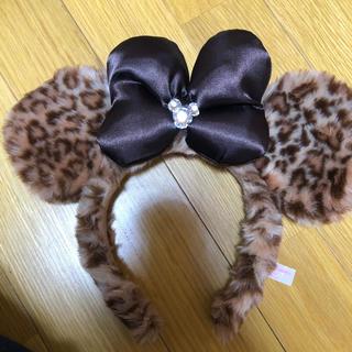 Disney - ミニーカチューシャヒョウ柄