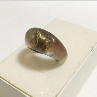 アッシュペーフランス(H.P.FRANCE)のJEMIMA ROGERS ライオン樹脂リング 15号 定価3万(リング(指輪))