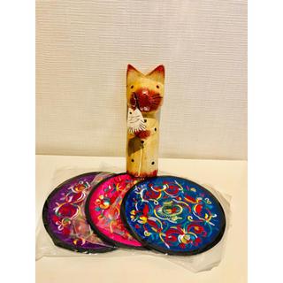 猫の置物 雑貨 バリ(インテリア雑貨)