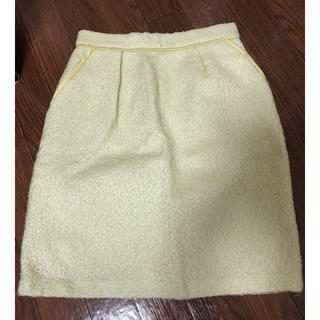 【アプワイザーリッシェ】ミントグリーン ツイード風スカート