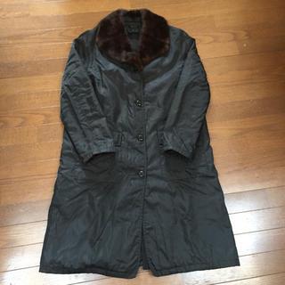 プラダ(PRADA)のPRADA プラダ ウール100%中綿入りコート ミンク毛皮 ライナー イタリア(スプリングコート)