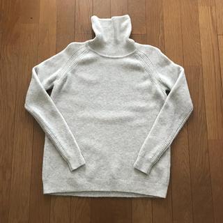 MUJI (無印良品) - 無印 ヤク混ブークレ タートルネックセーター