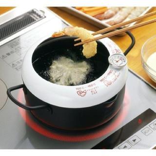 コレ、売れてます★温度計付天ぷら鍋 20cm 173(鍋/フライパン)