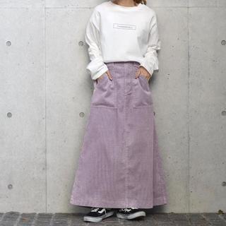 ダブルクローゼット(w closet)のw closet コーデュロイロング丈トラペーズスカート(ロングスカート)
