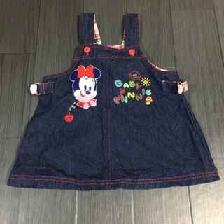 ディズニー(Disney)のディズニー ワンピース ジャンパースカート デニム90cm(ワンピース)