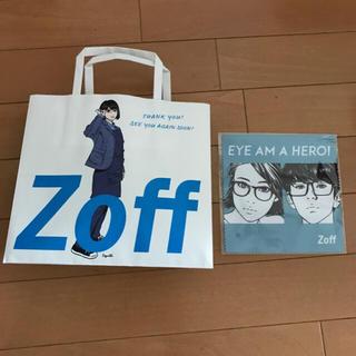 ゾフ(Zoff)のZoff ショッパー メガネ拭き 紙袋 眼鏡クリーナー 江口寿史氏 コラボ(サングラス/メガネ)