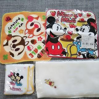 ディズニー(Disney)の【新品 未開封】タオルハンカチ 4枚セット ディズニー Disney(キャラクターグッズ)