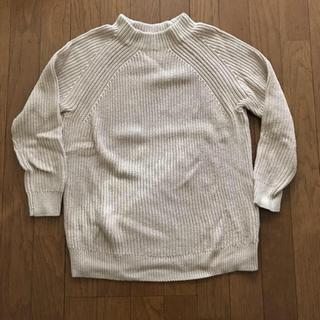 MUJI (無印良品) - 【春ニット】無印 オーガニックコットン 畦編みモックネックセーター