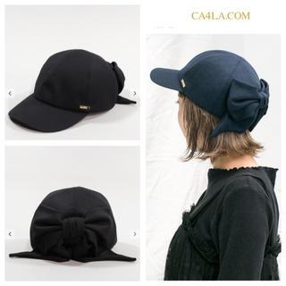 CA4LA - 新品 大人気 キャップ リボン ブラック FOLLOW レディース 帽子
