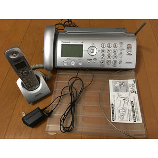 ジャンク品☆ファックス付電話機KX-PW505-S(その他)