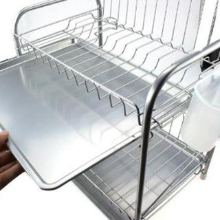 ★本日限定特価・送料無料★ 食器水切りカゴ2段(収納/キッチン雑貨)