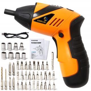 女性も使いやすい ★USB充電式 電動ドライバーセット 198(工具/メンテナンス)