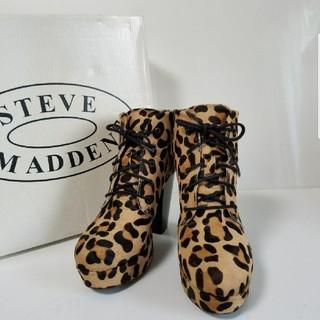 スティーブマデン(Steve Madden)のSTEVE MADDEN スティーブマデンレオパード ハラコ ブーツ  (ブーツ)
