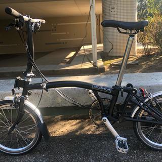 ブロンプトン(BROMPTON)の2017ブロンプトン S6L ブラック 最上位モデル Brompton 22万円(自転車本体)