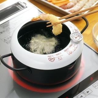売れてます★温度計付天ぷら鍋 20cm(鍋/フライパン)