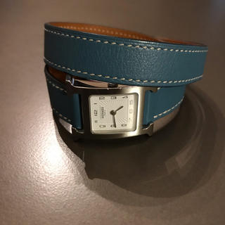 エルメス(Hermes)のエルメス HERMES 腕 時計 H ブルージーン 美品 ブレスレット(腕時計)