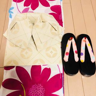 新品未使用 浴衣セット フリーサイズ 草履、帯付(浴衣)