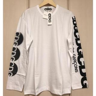 コムデギャルソン(COMME des GARCONS)のサークルロゴ コムデギャルソン ロングスリーブ 新品未使用 白(Tシャツ/カットソー(七分/長袖))