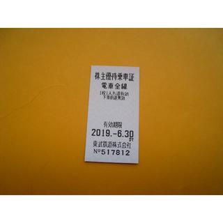 4枚・東武鉄道株主優待乗車証(鉄道乗車券)