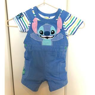ディズニー(Disney)のTシャツ オーバーオール 2点セット(ロンパース)
