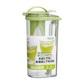 冷水筒 タテヨコ・茶こし付ハンドルピッチャー 2.2L(容器)
