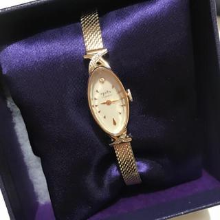 アガット(agete)のagate 時計 レディース アガット オーバルフェイスジュエリーウォッチ(腕時計)