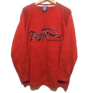 ドッグタウン(DOG TOWN)の新品★DOG TOWN ドッグタウン ニット セーター XL 大きい タグ付き (ニット/セーター)