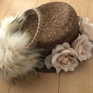 オリーブデオリーブ(OLIVEdesOLIVE)のOLIVE des OLIVE カンカン帽&イヤーマフ(イヤーマフ)