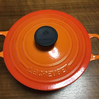 ルクルーゼ(LE CREUSET)のル・クルーゼ ココットロンド18cm 美品(鍋/フライパン)