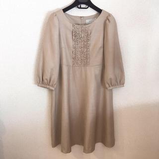 クチュールブローチ(Couture Brooch)のクチュールブローチ☆タグ付きワンピース(ひざ丈ワンピース)