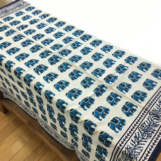 送料無料 新品 マルチクロス インテリア テーブルカバー 象 ゾウ R364(その他)