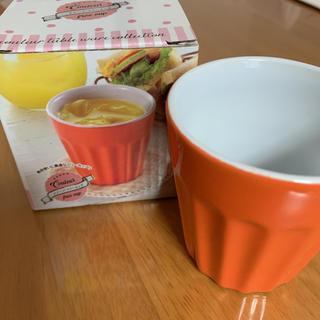 クルール☆フリーカップ☆オレンジカラー(グラス/カップ)